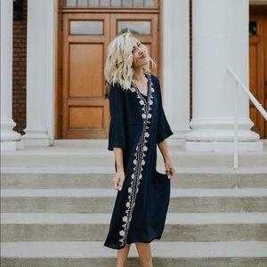 Roolee embroidered boho dress